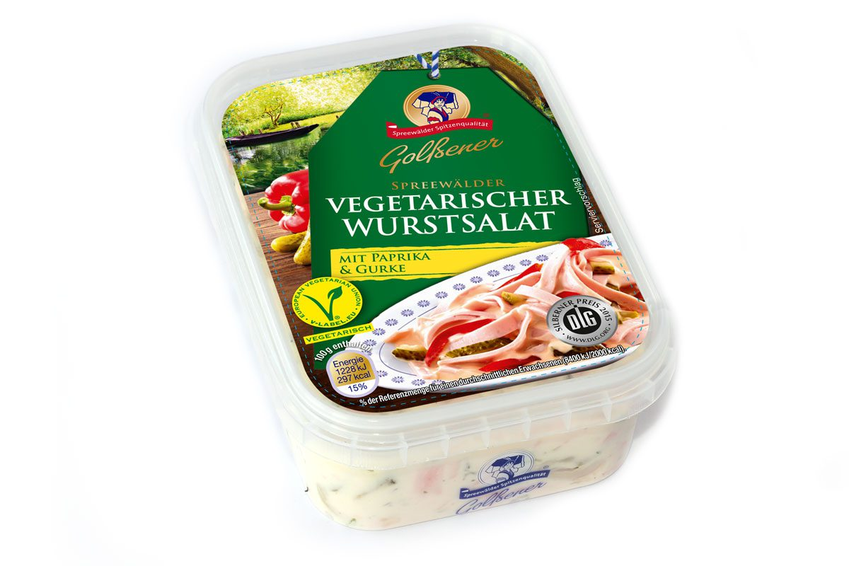 Vegetarischer Wurstsalat